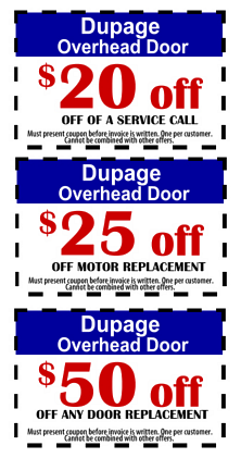 Coupons and Specials | Residential and Commercial Garage Doors Dupage County IL