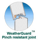 Pinch Reistant Garage Door Joints